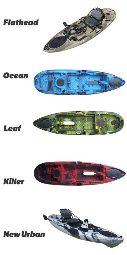 siren pedal kayak colours